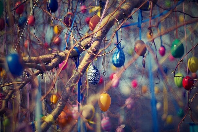 Osterstrauch, the German egg tree for Easter